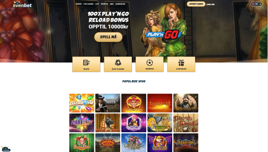 Casinospill Svenbet Casino